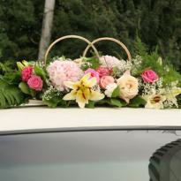 Украшение свадебных машин №15