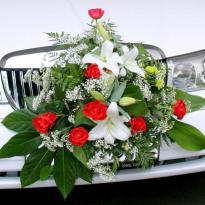 Украшение свадебных машин №17