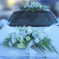 Свадебные украшения на машину №23