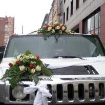 Украшение свадебных машин №4
