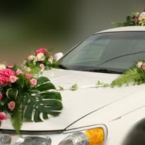 Украшение свадебных машин №5