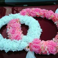Свадебные украшения на машину №27