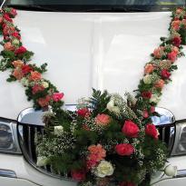 Украшение свадебных машин №9